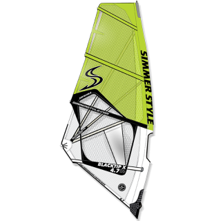 SIMMER SAILS BLACKTIP X 3,4 + 3,7 + 4,0 + 4,2 + 4,5 + 4,7 + 5,0 + 5,3 + 5,6 + 5,9 2018 yellow