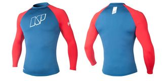 NP MENS CONTENDER TOP L/S S C4 blue/red