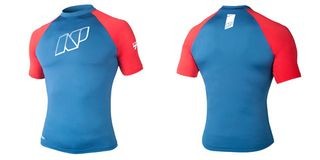 NP MENS CONTENDER TOP S/S S C4 blue/red