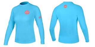 NP DAMEN CONTENDER TOP L/S M C3 light blue